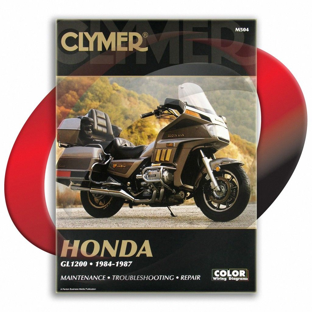 1985 Honda Gl1200l Gold Wing Limited Edition Clymer Repair Manual M504 Sixity Com