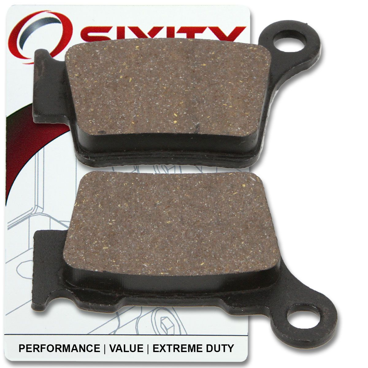 Sixity Front Rear Organic Brake Pads 2006-2009 for KTM 300 XC-W Set Full Kit Complete