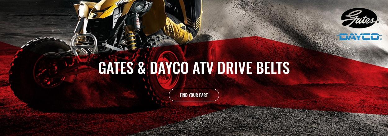 Shop Gates and Dayco ATV Drive Belts